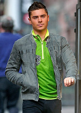 We love Zac in any shade, but orange doesn't look good on anybody!