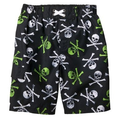 Mossimo Supply Co. Ebony Skull Swim Short
