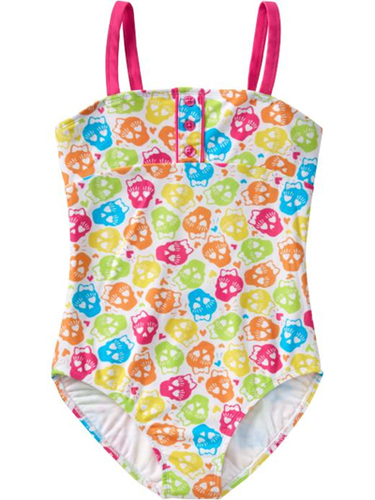 Old Navy Girls Skull-Print Swimsuit