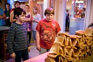 "Zachary Gordon as ""Greg"" and Robert Capron as ""Rowley."""