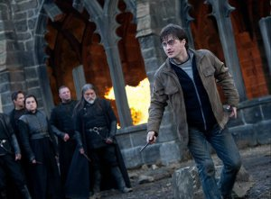 Harry Potter fighting