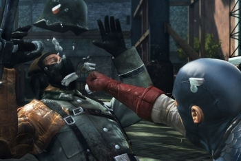Captain America: Super Soldier screenshot face punch