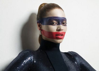 Beyonce is red, white and blue!