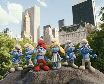 The Smurfs in NYC