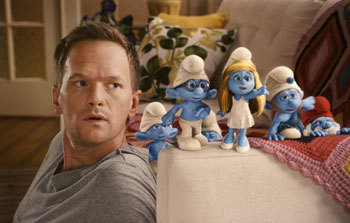 Neil Patrick Harris and the Smurfs