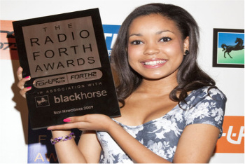 Dionne Bromfield at the Radio Forth Awards
