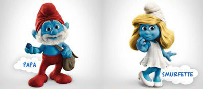 Papa and Smurfette