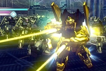 Dynasty Warriors Gundam 3 screenshot yellow gundam