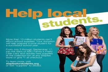 You can help by donating school supplies or joining the team online!