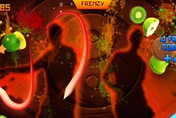 Fruit Ninja Kinect screenshot two player