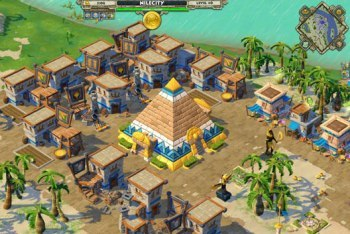 Age of Empires Online screenshot Egyptian pyramid