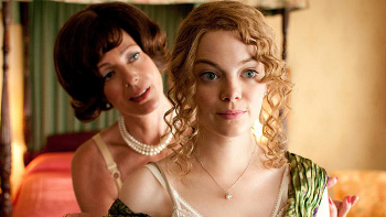 Allison Janney and Emma Stone