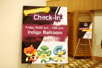 Check-in at Pokemon World Tournament