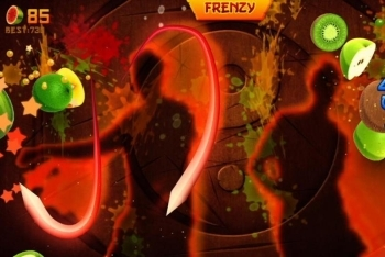 Fruit Ninja Kinect screenshot two players