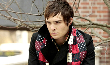 Ed Westwick plays Chuck Bass on Gossip Girl