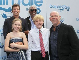 The cast at the Dolphin Tale premiere