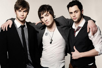 Chace Crawford, Ed Westwick and Penn Badgley
