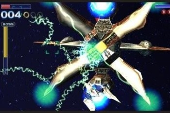 Star Fox 64 3D screenshot boss fight