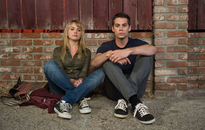 Dylan as Dave with Britt Robertson as Aubrey