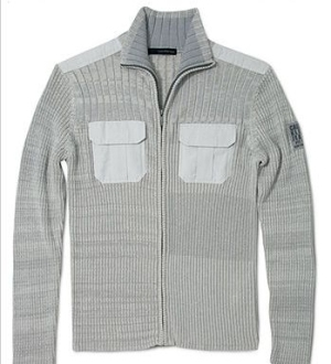 Military Zip Sweater