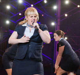 Rebel Wilson belts one as Fat Amy