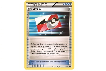 TCG Trainer Card First Ticket