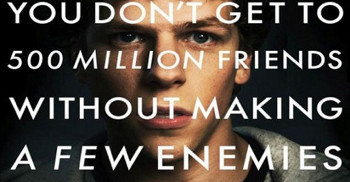The Social Network was based on the story of Facebook.