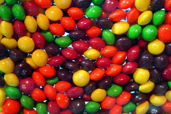 Skittles are rainbow fun