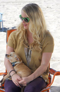 Leven with her dog Sookie
