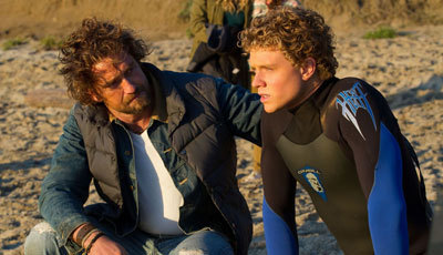 Jonny Weston with Gerard Butler