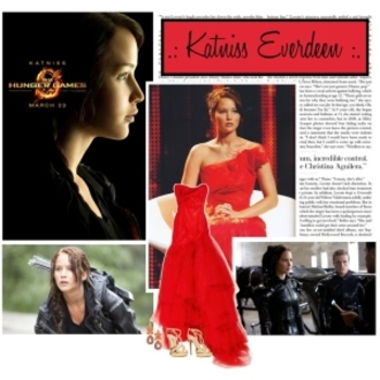 Breakdown of Katniss' outfit for the Interview -- minus the fire!