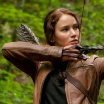 Katniss in her games outfit