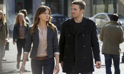 Stephen with Katie Cassidy as Laurel