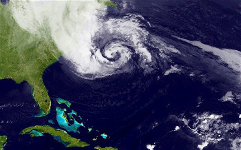 This is what a Hurricane looks like from above