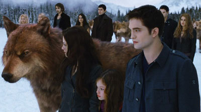 The vamp family with wolfed out Jake