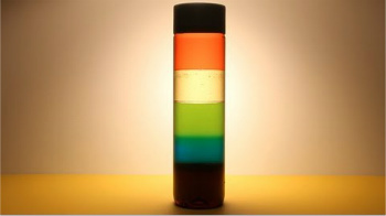 Stack the Liquids, Display it with a Light and You've Got a Re-vamped Lava Lamp!