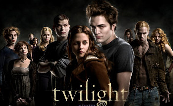 Twilight has the ultimate love triangle between a girl, a vampire and a werewolf