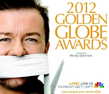 Comedian/Host Ricky Gervais made sure there was plenty of tongue in cheek humor at the ceremony