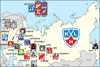 Top Cities of the KHL