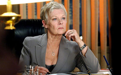 Judy Dench as Bond's boss M