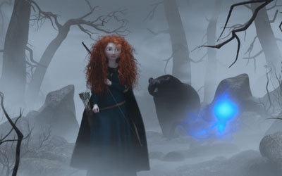 Merida and Mum-Bear in the forest