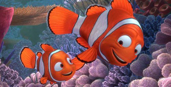 Marlin and Nemo get separated in the reef
