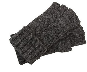 Michael Kors cable knit cropped gloves