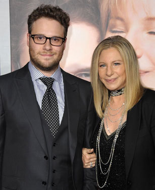 Seth and Barbra at the film's premiere