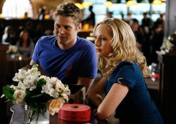 Zach Roerig and Candace Accola