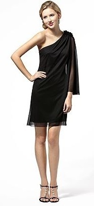 Asymmetrical little black dress