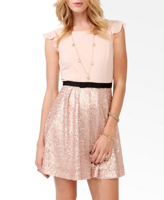 Forever 21's soft, feminine champagne pink dress