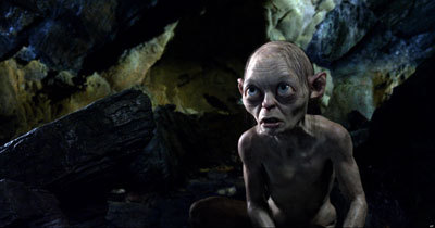 Gollum in his cave