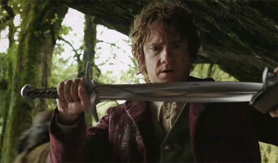 Bilbo gets his sword