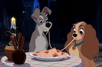 A candlelit dinner for your cutie is a classic date (just look at Lady and the Tramp)